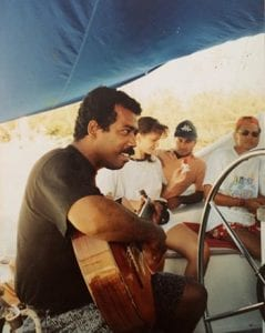 The late Antonio guitarist playing for clients in approx 1991